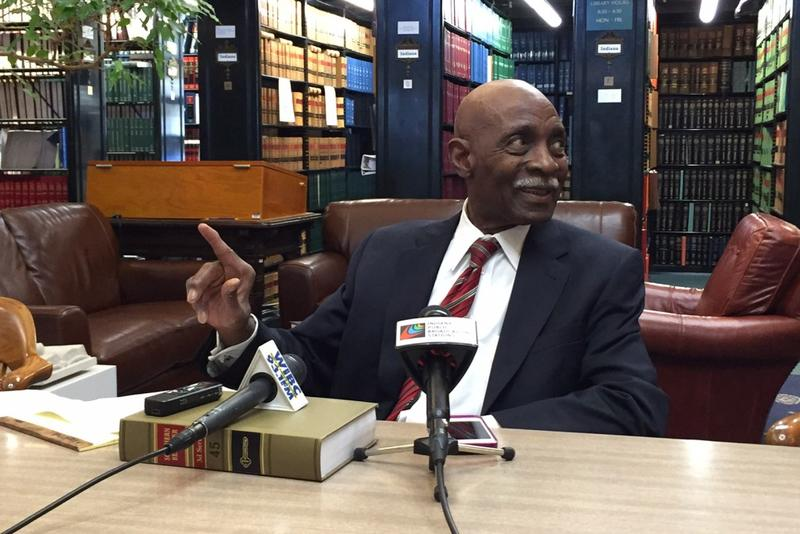 Indiana Supreme Court Chief Justice Robert Rucker discusses his pending retirement. (Brandon Smith/IPB News)