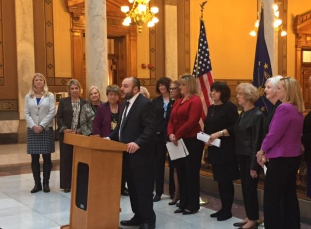 Bryan Hannon says the American Cancer Society supports the cervical cancer bill. (Jill Sheridan/IPB News)