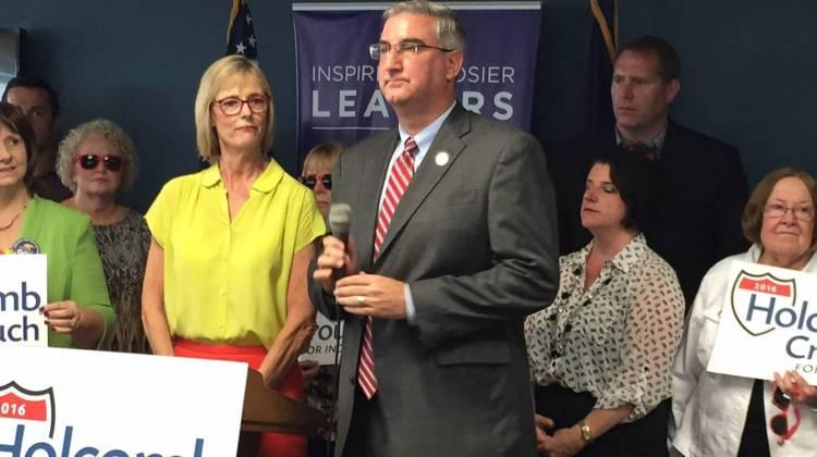 Indiana Gov.-elect Eric Holcomb wants to create an appointed secretary of education position. In this file photo, Holcomb appears at a campaign event on Aug. 1, 2016. (Brandon J. Smith / Indiana Public Broadcasting)
