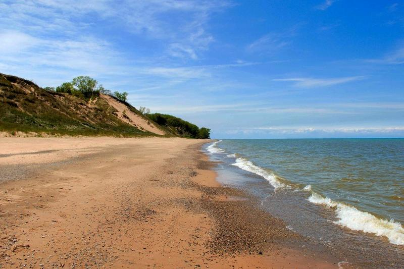 Indiana coast along Lake Michigan (Indiana Dunes National Lakeshore)