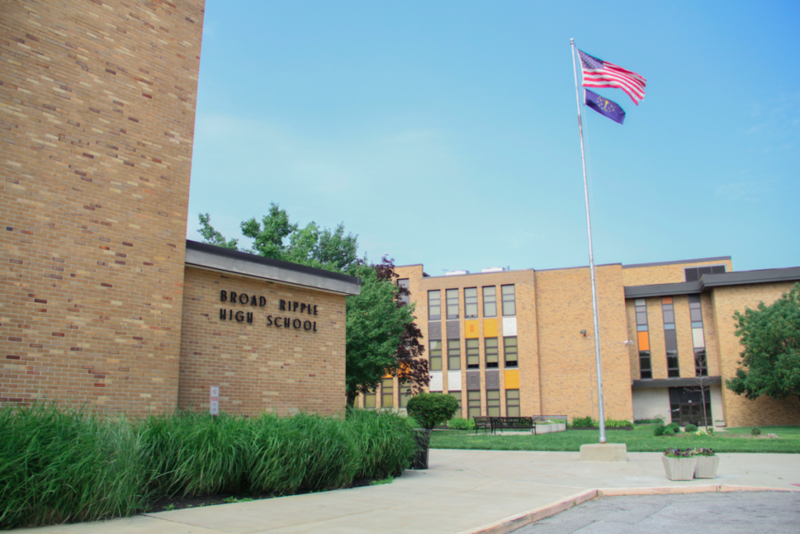 Broad Ripple Junior and Senior High School, on the city's northside, is expected to sell for $6 million to $8 million dollars, according to an IPS task force recommendation to close the school in 2018. (Credit: IPS)