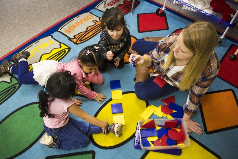 According to state law, to be eligible for state-funded pre-K, a parent needs to be working or attending school within 30 days of the program's start. (Peter Balonon-Rosen/IPB News)
