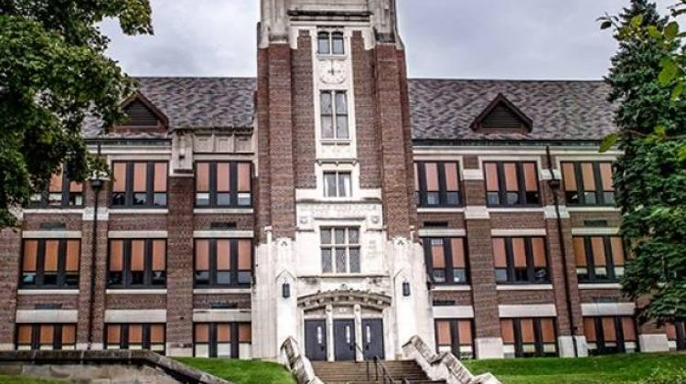 T.C. Howe High School in Indianapolis has been operated by Charter Schools USA since the 2012-13 school year as part of a state intervention. (Photo credit:0 Indiana Public Media)