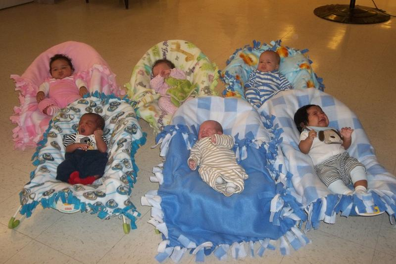 Six of the current residents of Wee Ones Nursery in Indianapolis. (Allison Greene/Wee Ones Nursery)