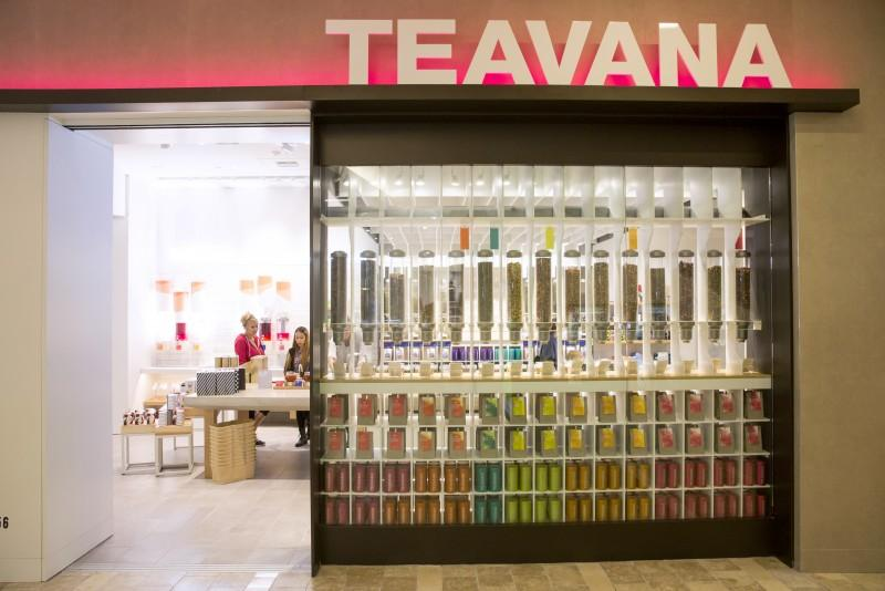A redesigned, Starbucks-owned Teavana at a Westfield mall in Seattle. (Courtesy Starbucks)