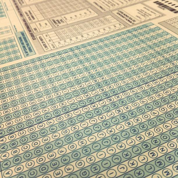 The answer sheet for a multiple-choice test on machine-readable paper. (Credit: benchun/flickr.com)