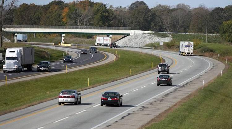 The Indiana Toll Road in northern Indiana.