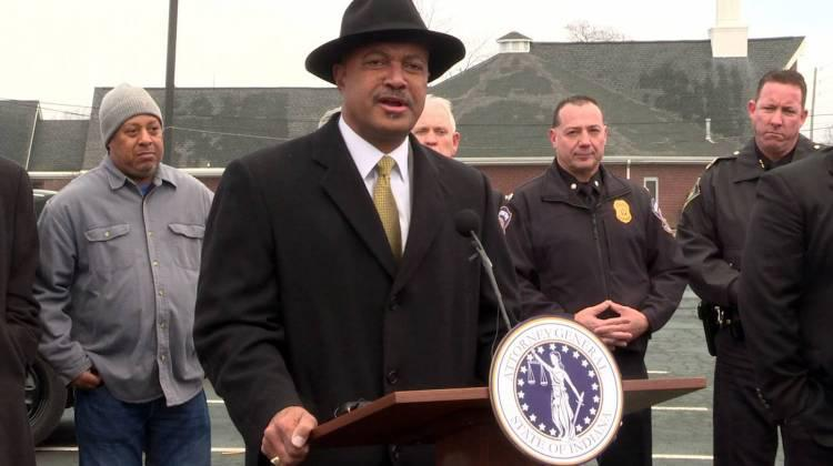 Indiana Attorney General Curtis Hill says neighborhoods like Crown Hill have seen decreases in violent crime because of Ten Point's work.