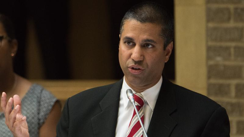 <p>FCC Chairman Ajit Pai speaking at an Agriculture and Rural Prosperity Task Force meeting in Washington, D.C. on June 15, 2017.</p>