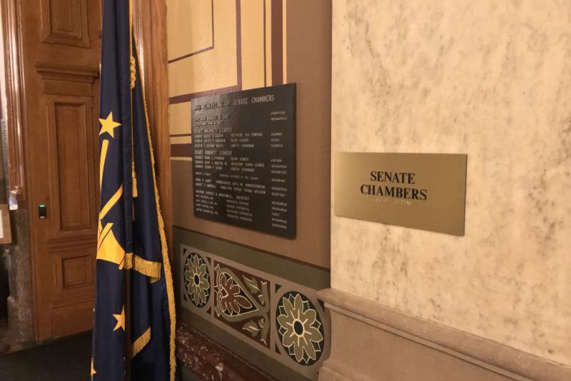 Outside the Senate Chamber at the Statehouse. (Brandon Smith/IPB News)