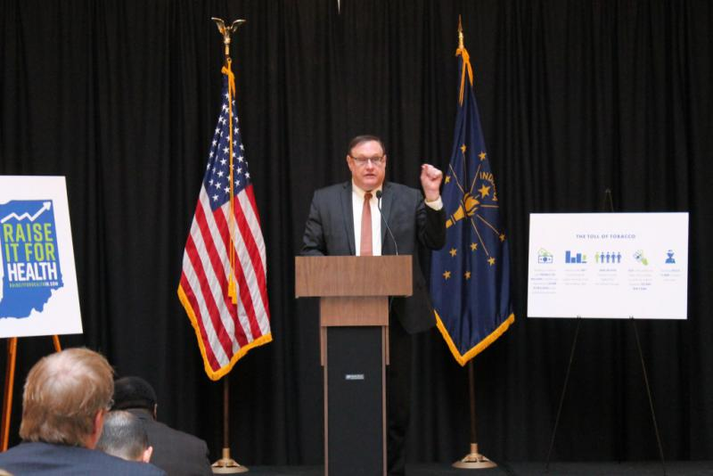Indiana Chamber President Kevin Brinegar calls smoking both a public health and a workforce development issue. (Lauren Chapman/IPB News)