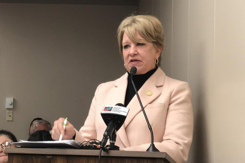 Rep. Cindy Ziemke (R-Batesville) is the author of a bill that would force townships of less than 1,200 residents to consolidate. (Brandon Smith/IPB News)