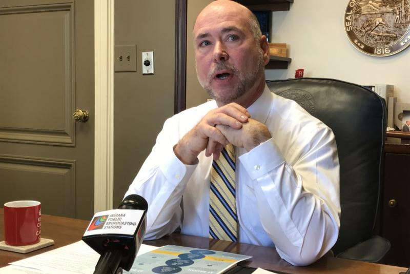 House Speaker Brian Bosma discusses his caucus's priorities for the 2018 session. (Brandon Smith/IPB News)