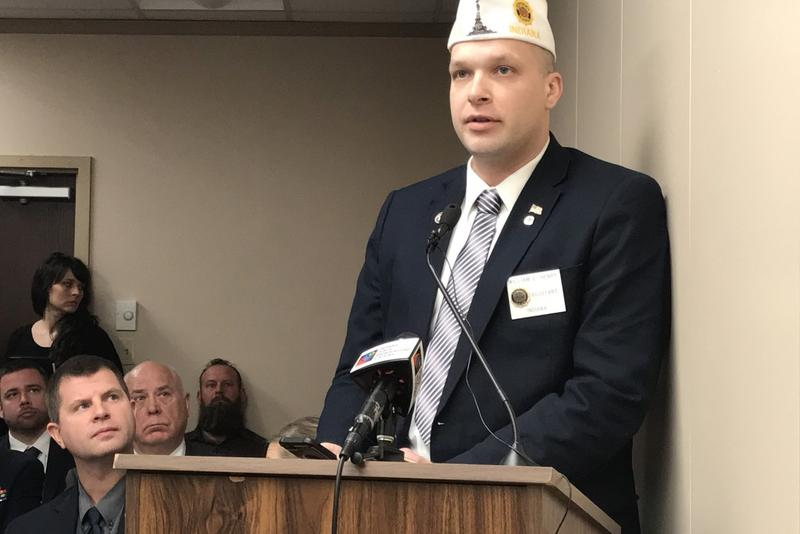 American Legion of Indiana Assistant Adjutant Will Henry testifies in a House committee on cannabidiol. (Brandon Smith/IPB News)