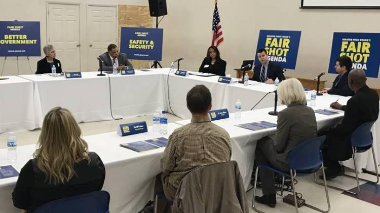 For the first stop in a series of roundtable discussions, Sen. Young  met with community and business leaders in Indianapolis to talk about the government's role in tackling big issues.