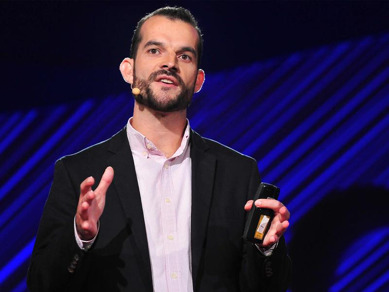 Sam Sternberg on the TEDMED stage.