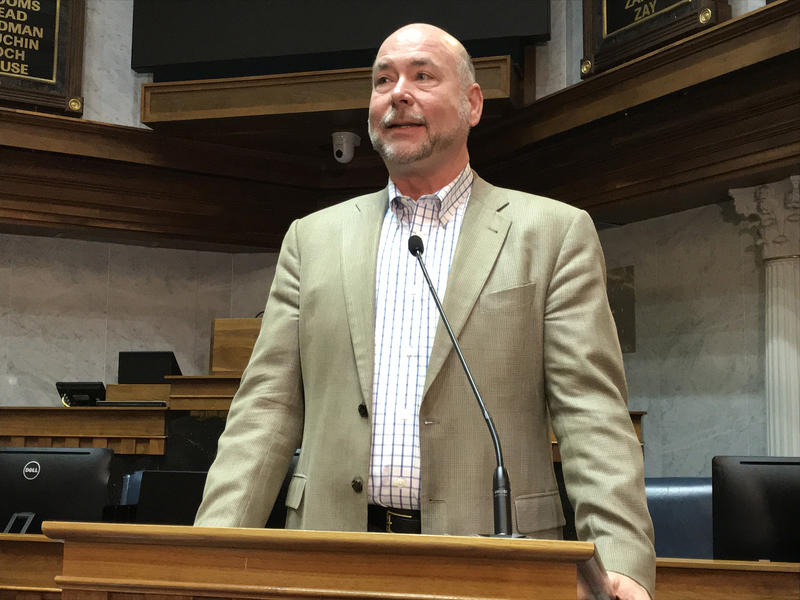 Speaker Brian Bosma (R-Indianapolis) says the substantive change to the bills is an adjustment to new Internal Revenue Services regulations. (Brandon Smith/IPB News)