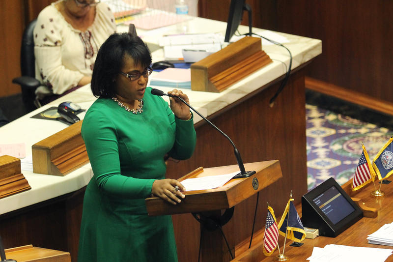 Indiana Black Legislative Caucus Chair Rep. Cherrish Pryor (D-Indianapolis) says the events help lawmakers tell constituents about the results of the legislative session and give citizens an opportunity to connect with their government. (Lauren Chapman/IP