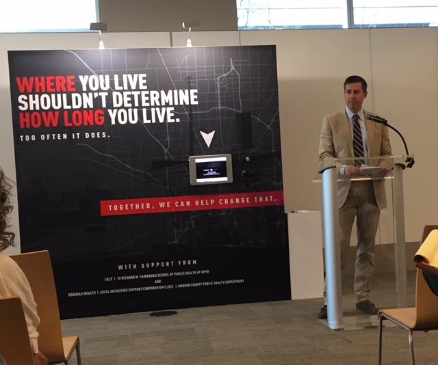 Eli Lilly CEO Dave Ricks announces new diabetes pilot project. (Jill Sheridan/IPB News)