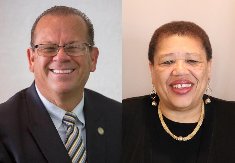 Democrat John Aguilera hopes to be the Democratic candidate for State Treasurer; Joselyn Whitticker filed to run for State Auditor. (Photos provided by campaign)