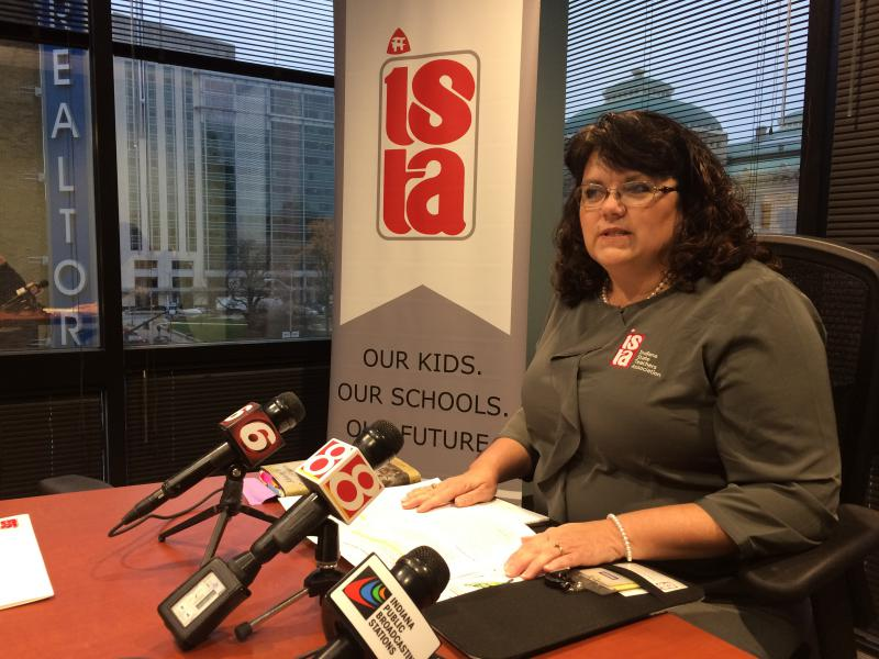 Teresa Meredith is the president of the state's largest teachers union. (Jeanie Lindsay/IPB News)