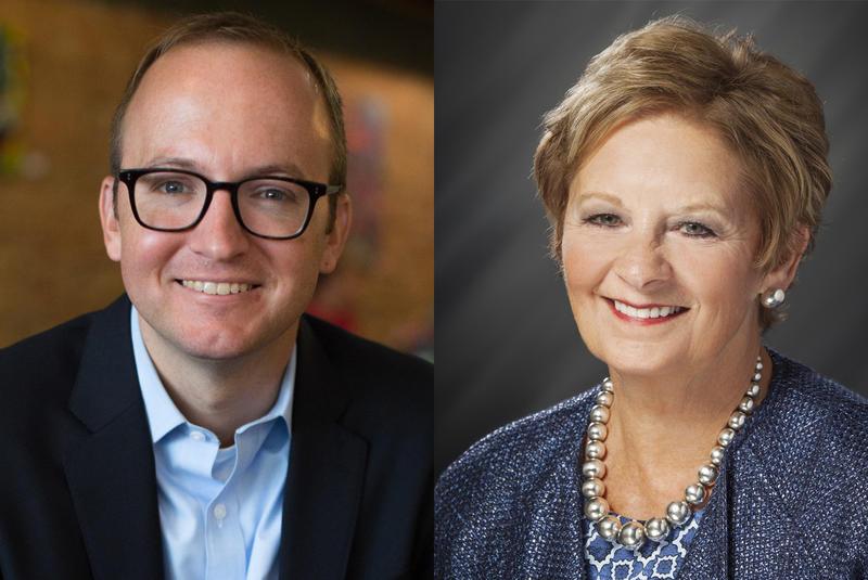 Democratic Secretary of State candidate Jim Harper, left, is running against incumbent Republican Secretary of State Connie Lawson, right. (Harper For Indiana/Indiana Secretary of State)