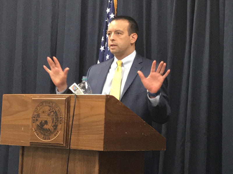 Office of Management and Budget Director Micah Vincent says Hoosiers should be happy the state doesn't rely on corporate taxes as that revenue source continues to decline. (Brandon Smith/IPB News)