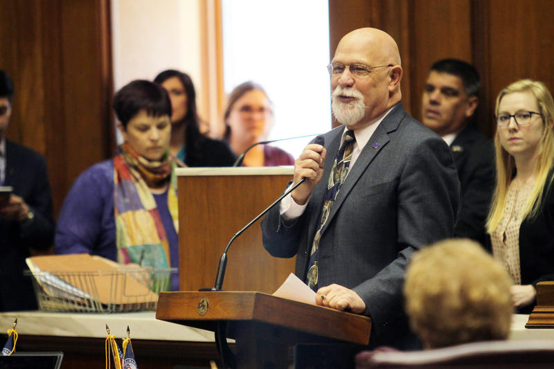 Rep. Tim Brown sponsored HB 1315, one of the most controversial bills this year that focused heavily on school financial management in Gary and Muncie. (Lauren Chapman/IPB News)