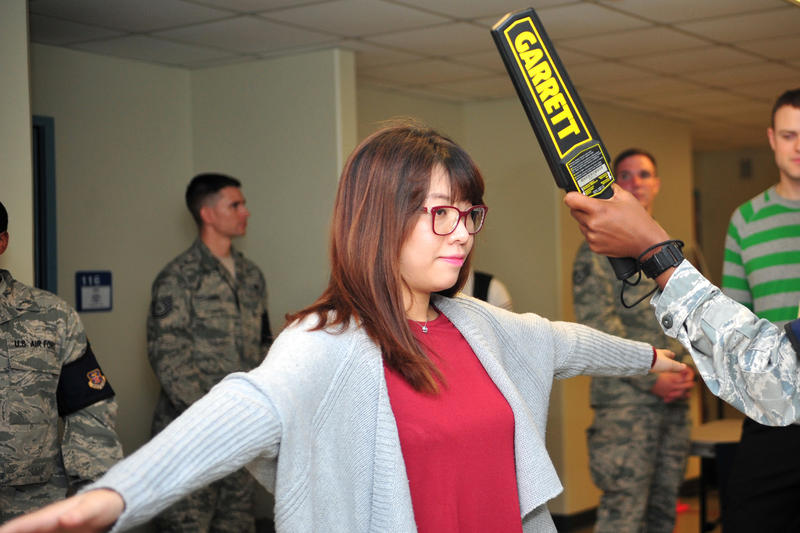 The state is offering handheld metal detectors to any school that requests them. (U.S. Air Force)