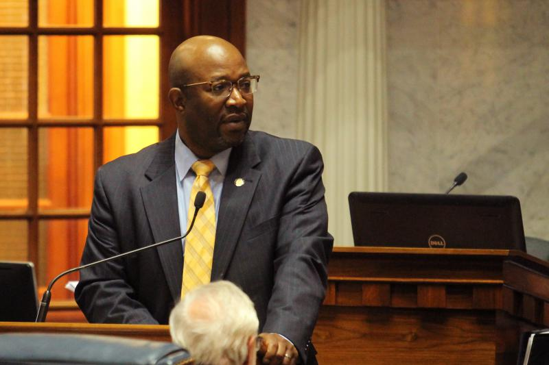 State Sen. Greg Taylor sponsored the bill that requires all Indiana high schools to offer an ethnic studies elective course. (Lauren Chapman/IPB News)