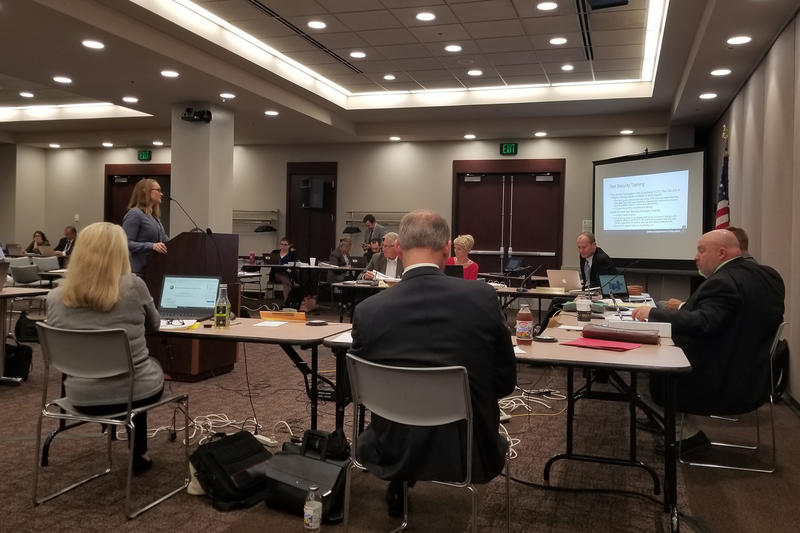 The State Department of Education presented new test security changes to the State Board of Education at its August meeting. (Jeanie Lindsay/IPB News)