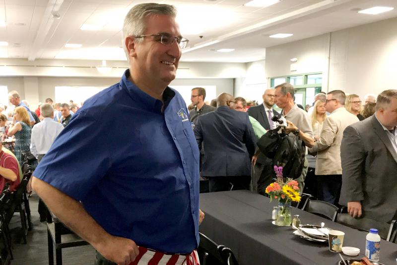 "Gov. Eric Holcomb says the key to push the measure over the finish line is to ""change hearts and minds"" in the legislature. (Brandon Smith/IPB News)"