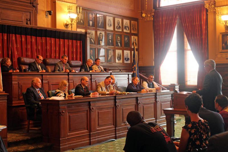 The Domestic Relations Committee hears testimony on child support guidelines. (Lauren Chapman/IPB News)