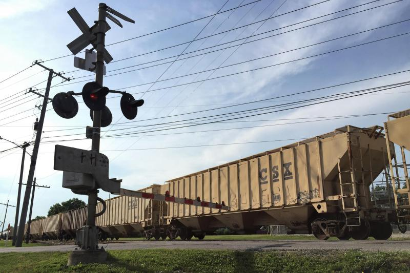 Indiana can no longer hold trains accountable if they block railroad crossings for a long time. (Charlotte Tuggle/WBAA)