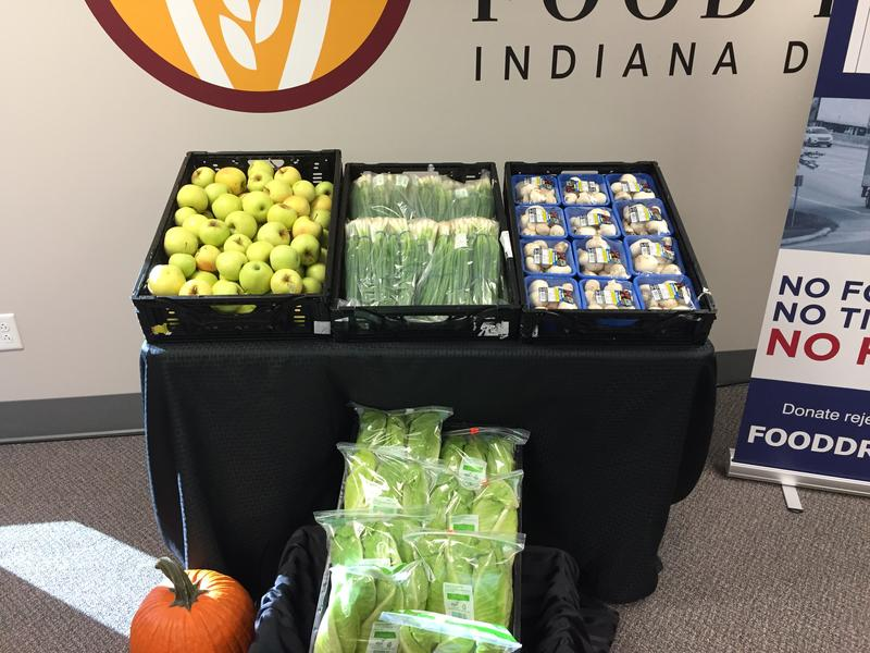 Some of the fresh produce recently saved in Indiana. (Jill Sheridan/IPB News)