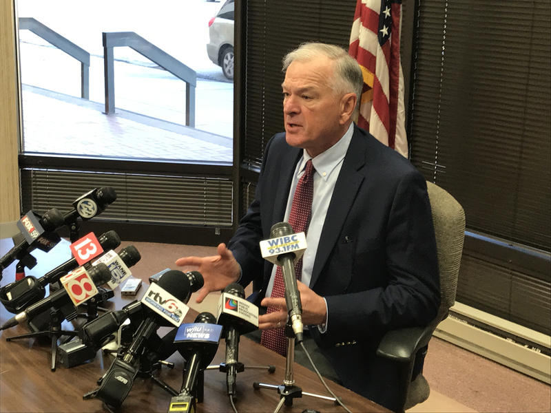 Special prosecutor Dan Sigler discusses his decision not to bring criminal charges against Indiana Attorney General Curtis Hill. (Brandon Smith/IPB News)