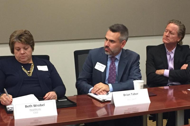 Indiana health leaders join a Medicaid roundtable. (Jill Sheridan/IPB News)