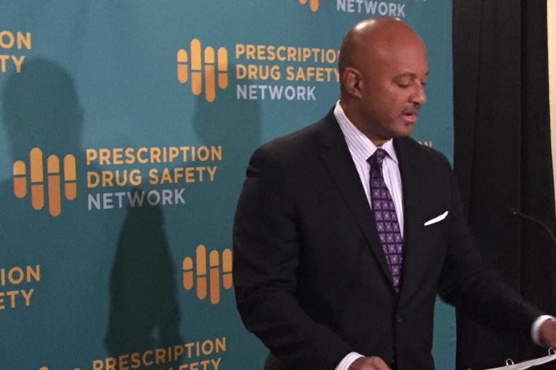 Attorney General Curtis Hill announces the expansion at the annual Drug Abuse Symposium. (Jill Sheridan/IPB News)