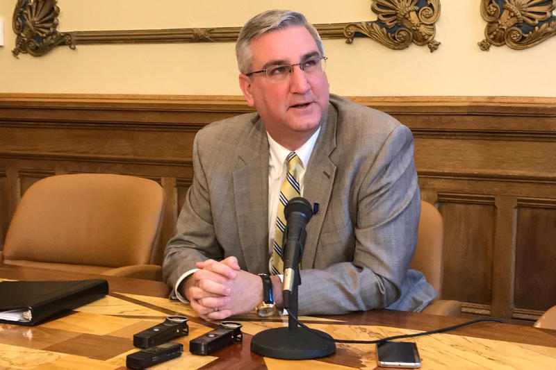 Gov. Eric Holcomb says he cannot tell the legislature to impeach Attorney General Curtis Hill. (Brandon Smith/IPB News)