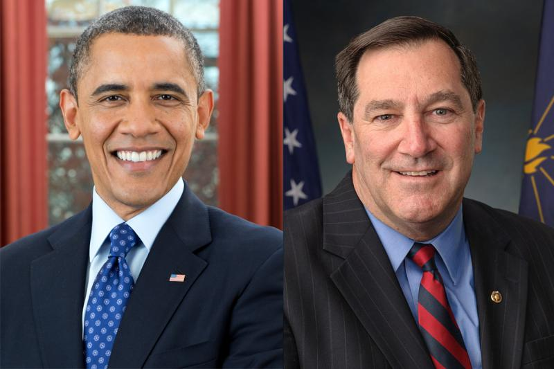 Former President Barack Obama will campaign in Gary for Sen. Joe Donnelly (D-Ind.). (Photos courtesy of White House, U.S. Senate)