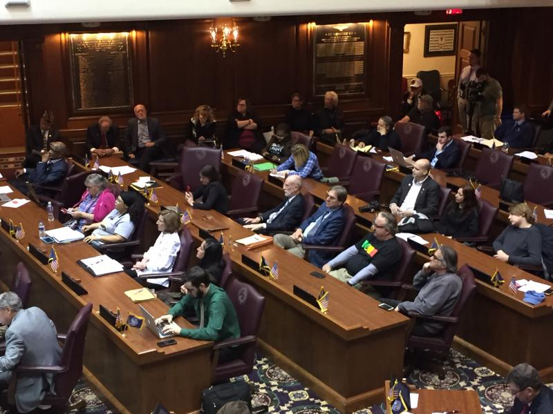 The chambers of the Indiana House were full for testimony on medical cannabis. (Jill Sheridan/IPB News)