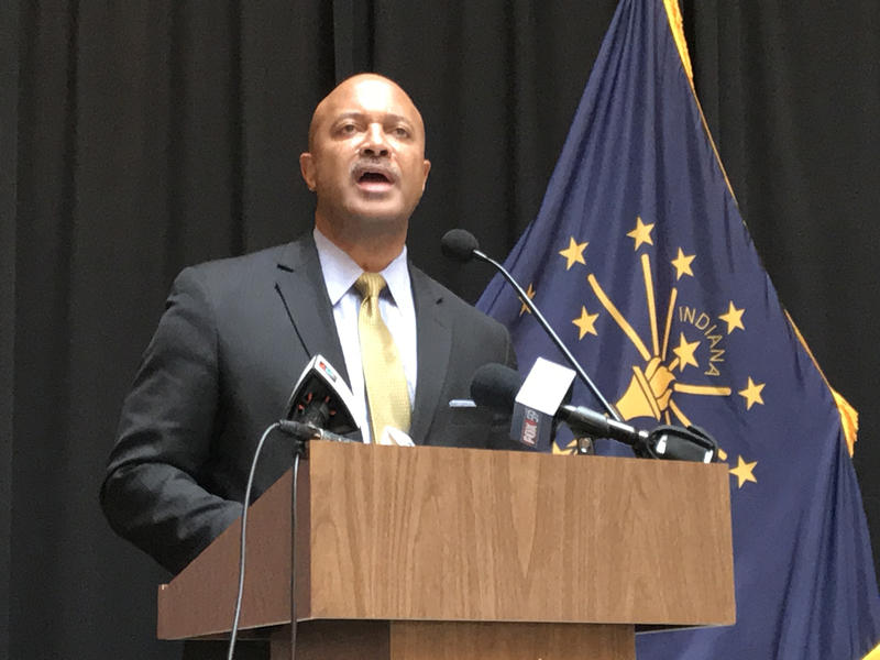Attorney General Curtis Hill says he wants to help people feel safe and comfortable in their communities. Some women say they don't feel safe and comfortable with him in office. (Brandon Smith/IPB News)