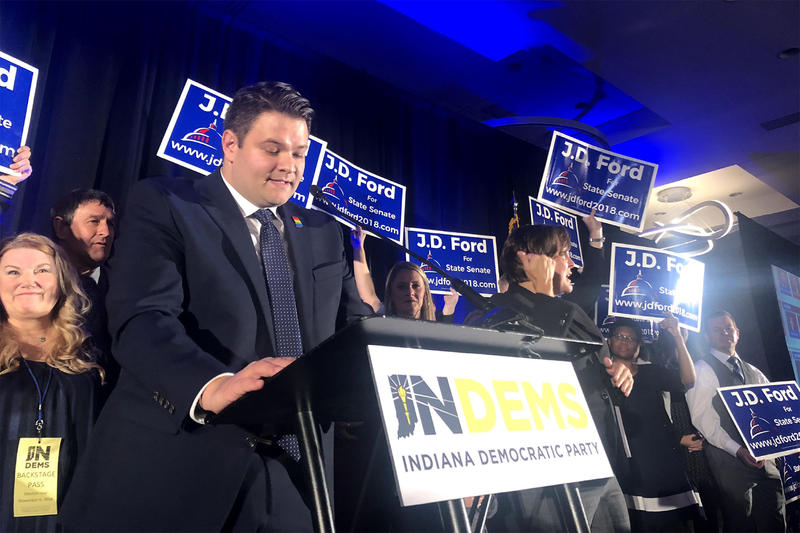 In his rematch against incumbent Republican state Sen. Mike Delph, J.D. Ford wins District 29. (Carter Barrett/WFYI News)