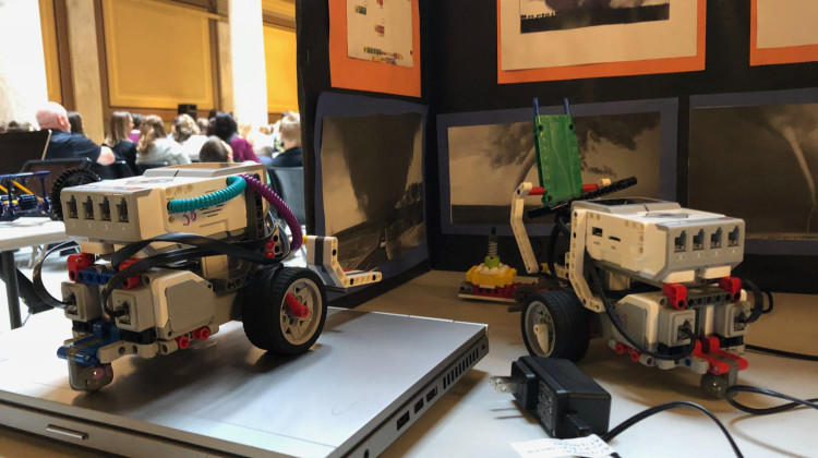 At the IDOE's announcement Friday, students showcased their STEM based projects.