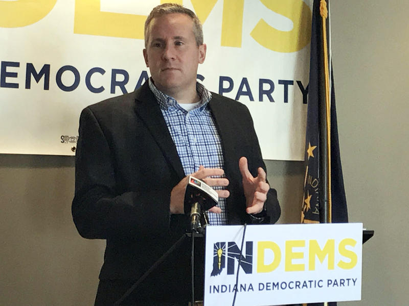 Indiana Democratic Party Chair John Zody says he plans to remain in his leadership position as his party tries to move forward from Tuesday's election. (Brandon Smith/IPB News)