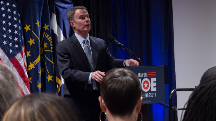 In his speech Mayor Hogsett focused, as he has for much of his term, on public safety, infrastructure and education.