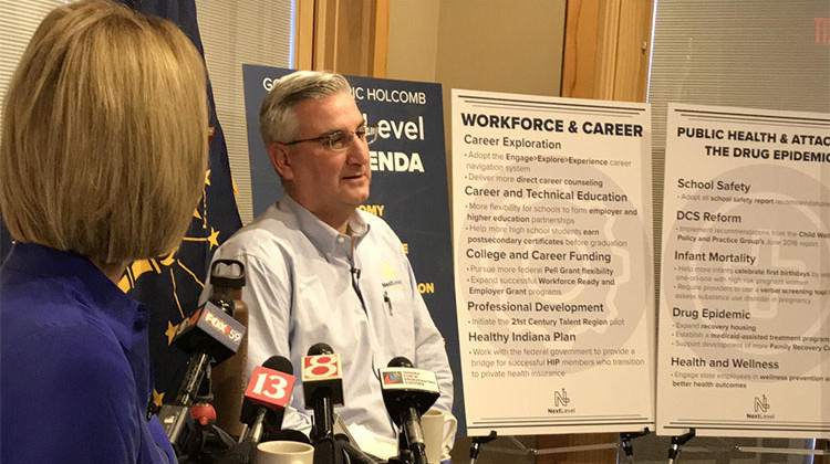 While unveiling his 2019 legislative agenda last week, Gov. Eric Holcomb said the teacher pay increase may need to wait until 2021. On Wednesday, he said he's calling for an increase in K-12 funding that could be used by school districts to increase