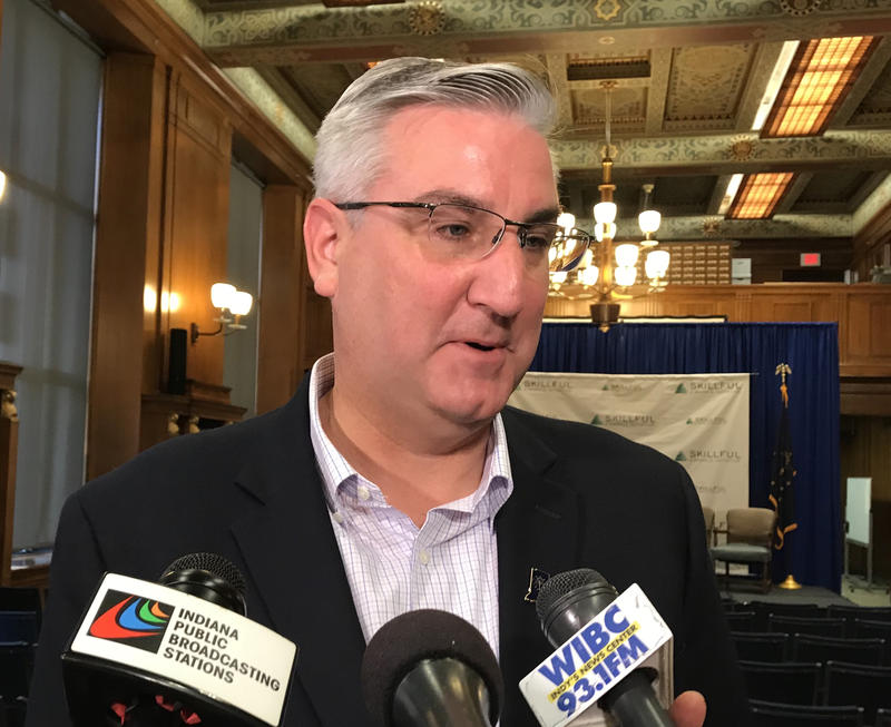 Gov. Eric Holcomb acknowledges the state needs to help foster parents more. (Brandon Smith/IPB News)