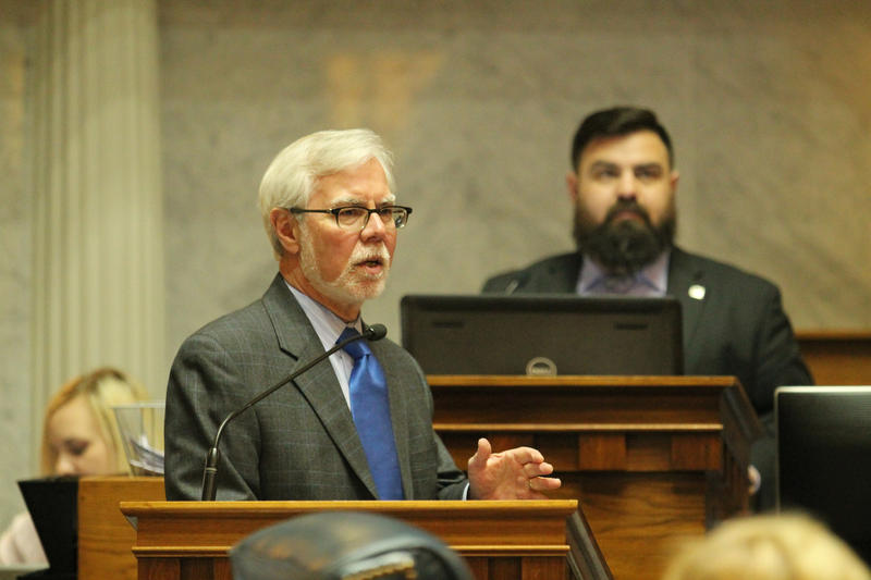 Senate Minority Leader Tim Lanane (D-Anderson) says he wants to protect coverage for pre-existing conditions, no matter what happens at the federal level. (Lauren Chapman/IPB News)