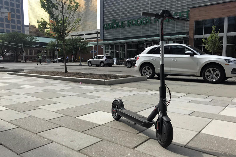 Companies like Bird and Lime dropped hundreds of scooters in several Indiana communities last year. (FILE PHOTO: Drew Daudelin/WFYI News)